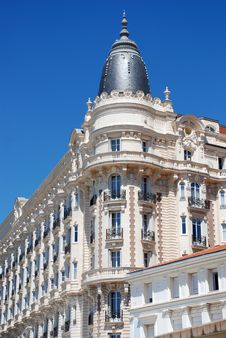 Luxurious Hotel In Cannes Royalty Free Stock Photos