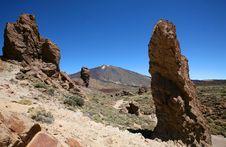 Montain El Teide In Tenerife Island Stock Photo