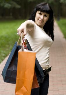 Free Girl With Shopping Bags Stock Photo - 6107010