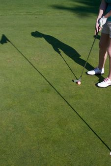 Free Golfer S Shadow - Vertical Royalty Free Stock Image - 6107196