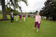 Free Women Playing Golf Stock Photography - 6107282