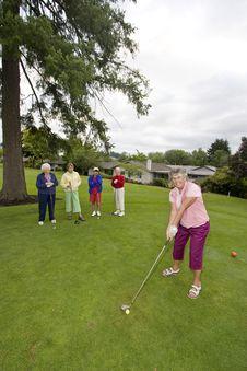 Free Women Playing Golf Stock Photography - 6107532