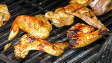 Chicken On Grill Stock Image