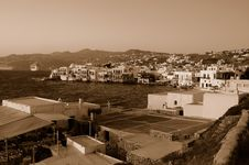 Free Mykonos, Greece (Sepia) Stock Photos - 6107883