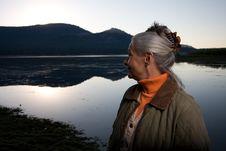 Free Lady At The Lake Stock Photo - 6108420