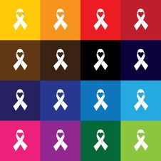 Free Pink Ribbon, Breast Cancer Awareness Vector Icon Square Button S Stock Images - 61019284