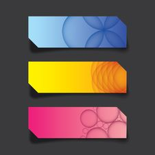 Vector Graphic Of Web Banner, Header Layout Template, Colorful C Stock Photos