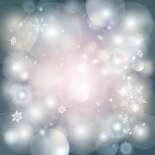 Free Christmas Light Background With Snowflakes Royalty Free Stock Photos - 61041538
