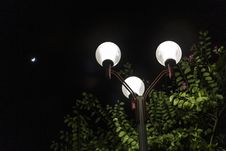 Street Lamp At Night Stock Images