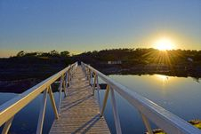 Free White Bridge Illuminated By Sunset Royalty Free Stock Images - 61082179