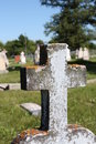 Free Cross At A Cemetery Stock Photography - 6116622