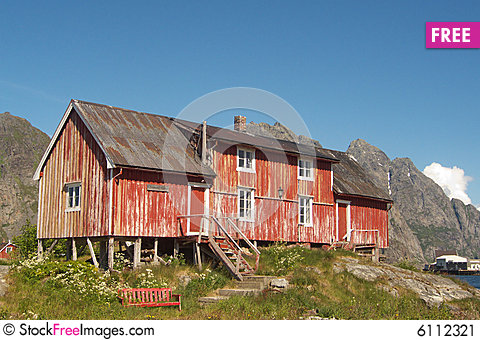 Free Abandoned Old Lofoten S Farm Stock Image - 6112321