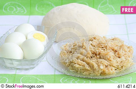 Free From Cabbage Pie And Eggs (recipe N2, Series) Stock Images - 6114214