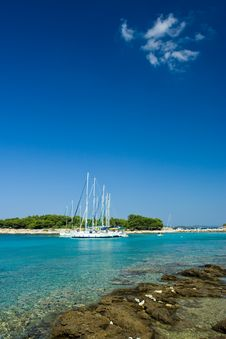 Free Sail Boats Docked In Beautiful Bay, Adriatic Sea, Stock Image - 6110731