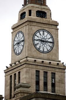 Free Clock Tower In Shanghai Royalty Free Stock Image - 6111206