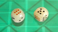 Free Two Quartz Digital Dices Stock Photos - 6111243