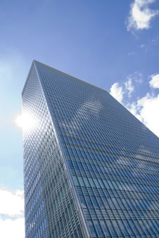 Free Glass Skyscraper On Blue Sky Stock Photo - 6111520