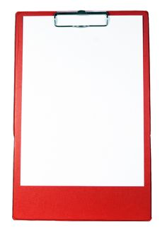 Free Red Clipboard Stock Photo - 6112390