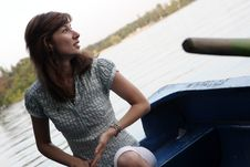 Free Girl Rowing Boat Royalty Free Stock Images - 6112749