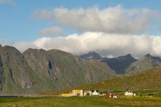 Free Farms Of Uttakleiv In Lofoten Stock Photos - 6112753