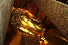 Free Recline Buddha At Bangkok Royalty Free Stock Photography - 6112997