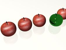 Free Row Of Apples Stock Photography - 6113292
