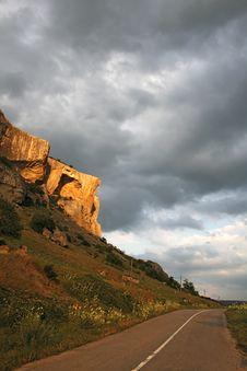 Free Beautiful Cliff In Sunset Light Stock Photo - 6113490