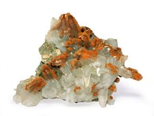Free Crystals Of A Kaltsit And Quartz Stock Photography - 6114272