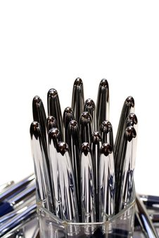 Free Glass Glass With Pens Royalty Free Stock Photos - 6114368