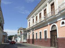 Colonial Buildings In Cienfuegos City Stock Photos
