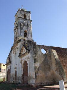 Vintage Ancient Church In Trinidad Royalty Free Stock Photo