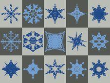 Free Snowflake Icons Stock Image - 6115581