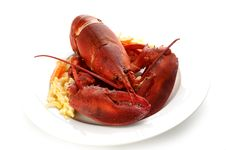 Free Lobster On Butter Potatoes Stock Photography - 6115782