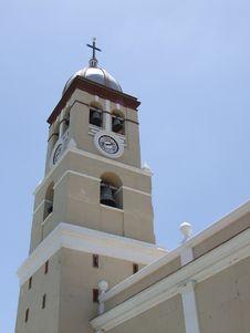 Free Bayamo City Cathedral Bellfry Clock Tower Royalty Free Stock Photos - 6116248