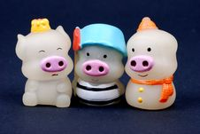 Tree Little Pigs Royalty Free Stock Photos