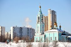 Free Beautiful Blue Christian Orthodox Church Stock Photo - 6117650