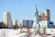 Free Christian Church In Winter Moscow Royalty Free Stock Image - 6117656