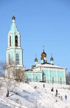 Free Beautiful Blue Christian Orthodox Church Stock Photo - 6117660