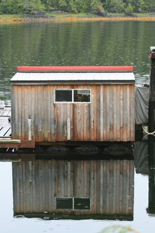 Free Boathouse In The Rain Stock Image - 6117901