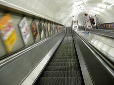 Free Subway Escalator Royalty Free Stock Images - 6117919