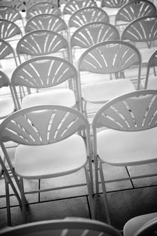 Free Abstract Of Rows Of Chairs Stock Photo - 6119000