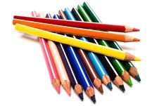 Free Beautiful Color Pencils Stock Photo - 6119310