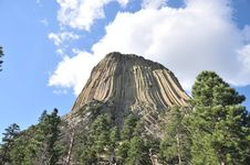 Free Devils Tower - Southeast Face Stock Photography - 6119542