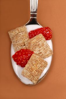 Free Shredded Wheat Cereal With Strawberry Stock Photography - 6119822