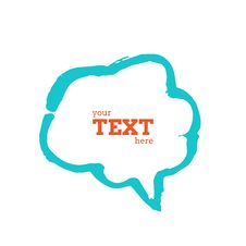 Text Bubble Vector Illustration Stock Photo