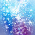 Free Winter Background With Snowflakes Royalty Free Stock Image - 61196826