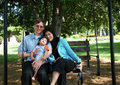 Free Family Of Three On Swing Stock Photography - 6120612