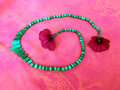 Free Green Necklace With Flowers Royalty Free Stock Photography - 6129177