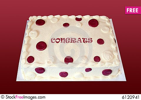 Free Congratulations Cake Stock Image - 6120941