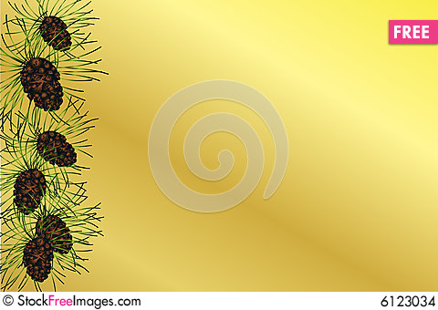 Cone Background Background With Pine Cones